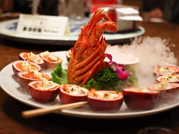 阿美飯店で出された台湾料理の一品。