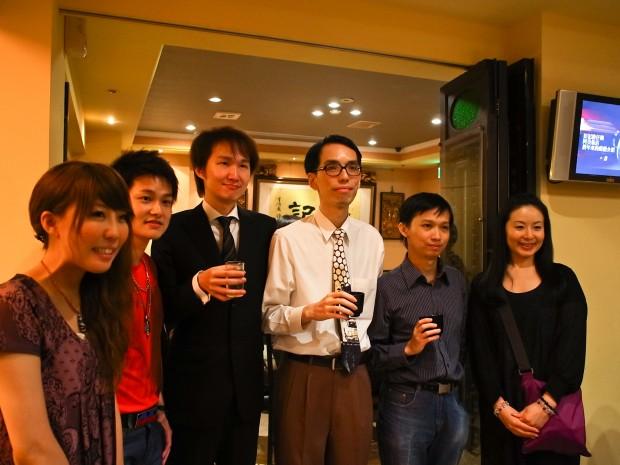 日本からの美女二人と、台湾ミステリ作家たち。