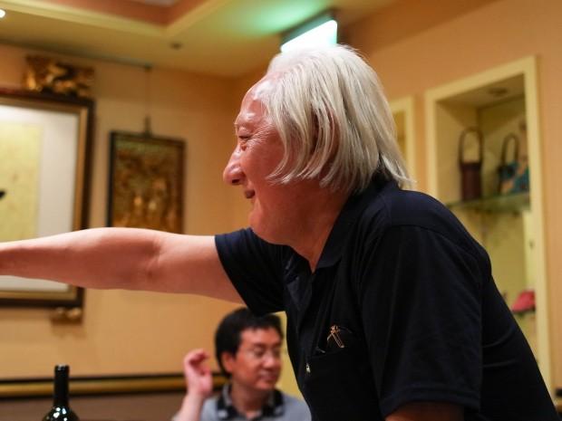 島崎御大が台湾ミステリ作家たちに檄を飛ばすの図。